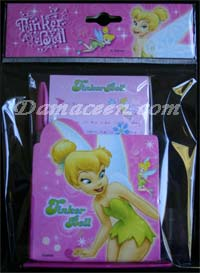 DISNEY Tinkerbell Pen and Notebook Set