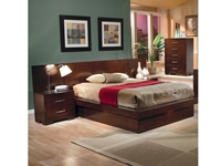 Jessica California King Pier Bed with Rail Seating and Lights