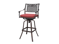 Poundex - P50102 -Outdoor Swivel Bar Chair