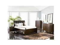 Coaster - NF201511KE  - Coaster Lorretta King Contemporary Platform Bed in Cappuccino