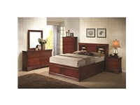 Coaster - NF200439KE - Coaster Louis Philippe Eastern King Storage Bed in Cherry