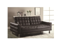 Coaster - NF300294 - Coaster  Sofa Bed in Dark Brown with Cup Holders