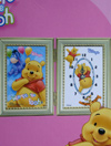 Disney Winnie The Pooh Photo Frame W/ Clock #1