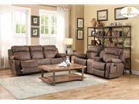 Home Eleglance-  Double Reclining Sofa with Center Drop-Down Cup Holders