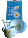 DISNEY TINKERBELL 4 PIECE TABLEWARE SET