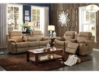 Home Eleglance -Doble Glider Reclining Love Seat with Center Console