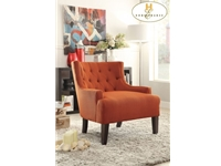 Home Eleglance - Accent Chair, Orange