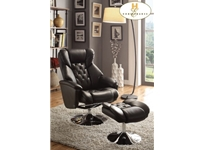 Home Eleglance - Swivel Reclining Chair with Ottoman