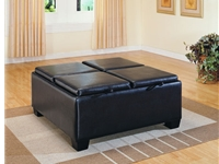 Home Eleglance - Ottoman with 4 Storage Slots