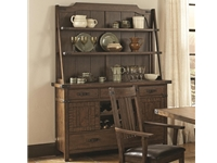 Coaster - NF105704 - Coaster Padima Rustic Rough-Sawn Buffet and Hutch with Metal Bracket Hardware and Wine Storage