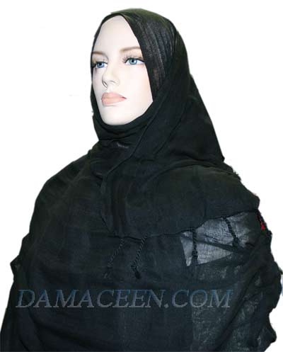 Balck Cotton Shawl #391