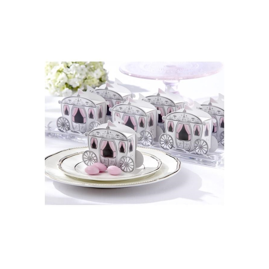 50 pcs Cinderella Enchanted Carriage Wedding Favor Boxes Candy Gift