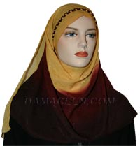 Shawl with Breaded Head Band #1196