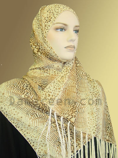Printed Artistic Design Shawl # 640