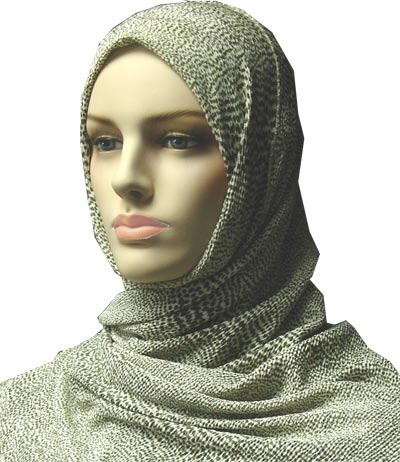 Lycra Cheetah Design Shawl with Matching Cap #473