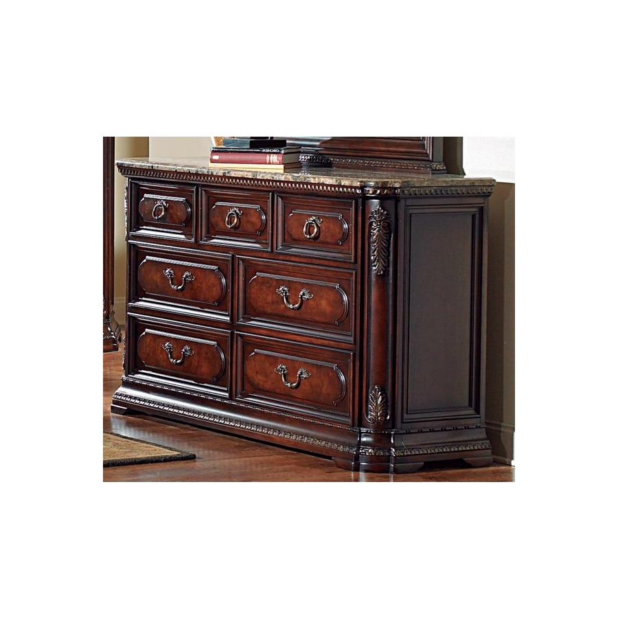Home Eleglance -Dresser with Marble Top