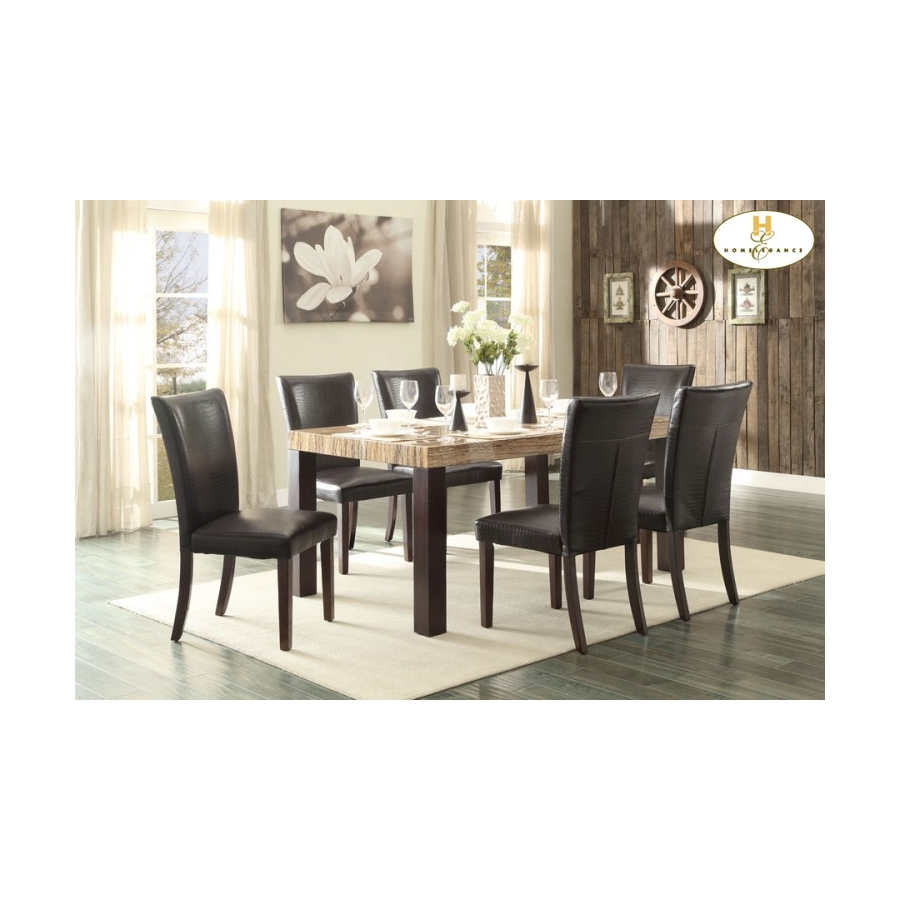 Home Eleglance - Dining Table, Faux Marble Top