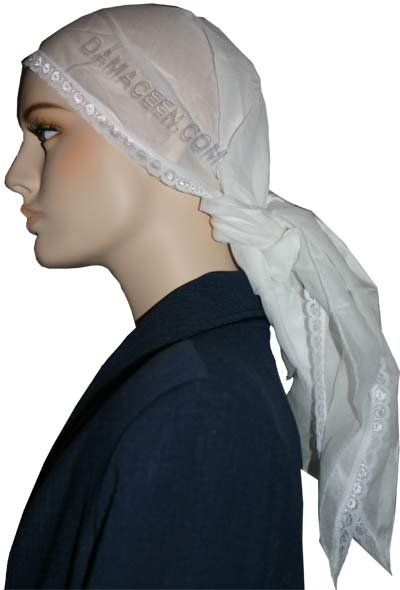 Gauze Head Band With Lace #1071