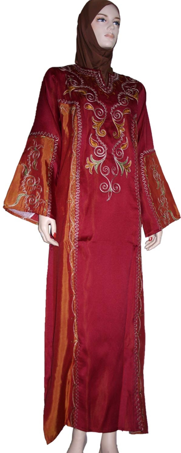2 Color Embroidered Galabia 543