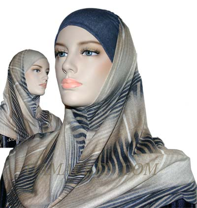 2PC Colorful Hijab Cover 1