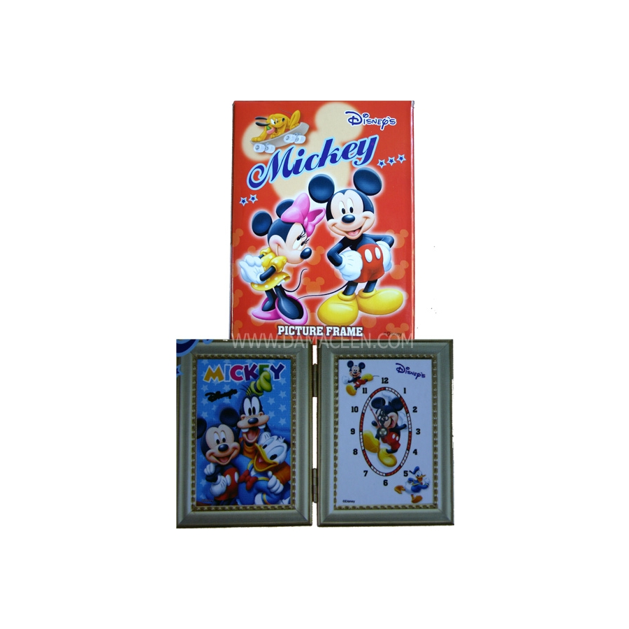 Disney Mickey Mouse Photo Frame W/ Clock