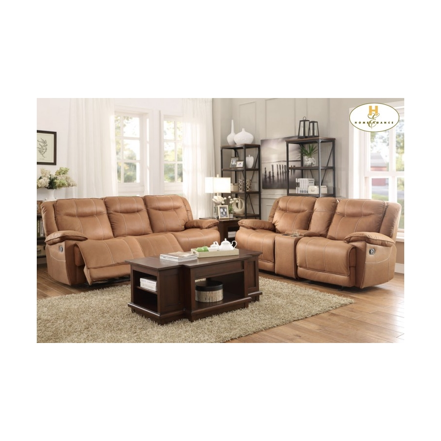 Home Eleglance - Triple Reclining Sofa