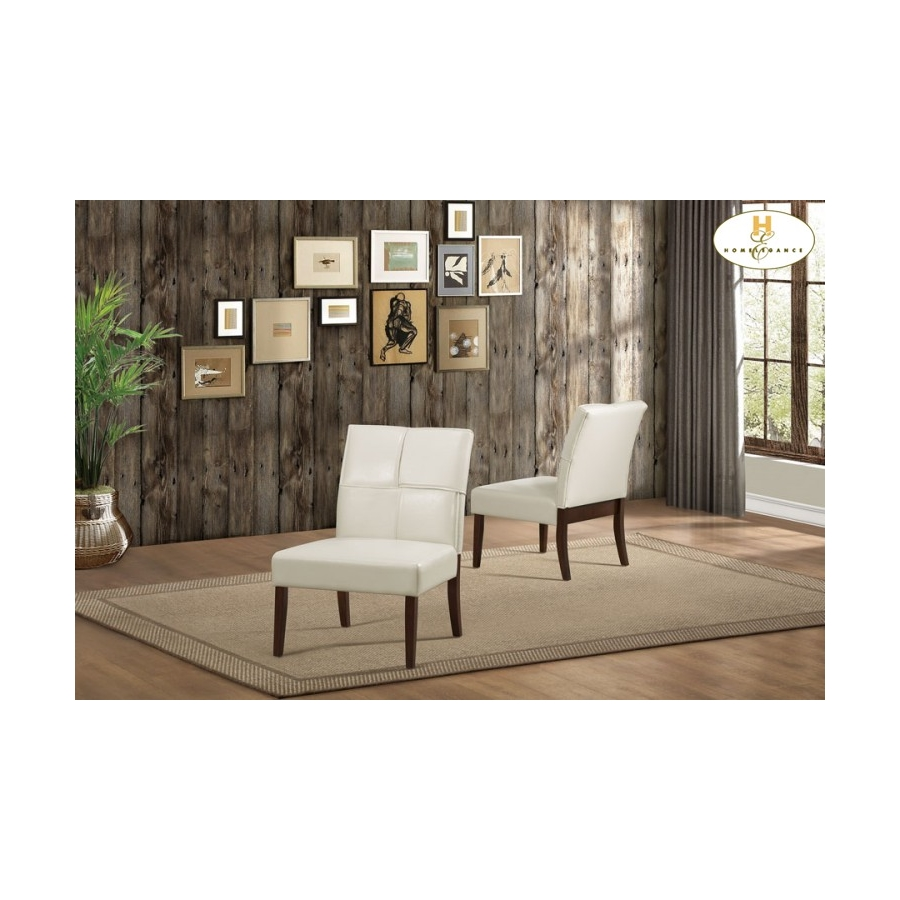 Home Eleglance - Accent Chair, Cream