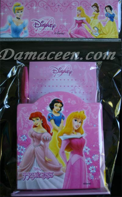 DISNEY Princess Pen and Notebook Set