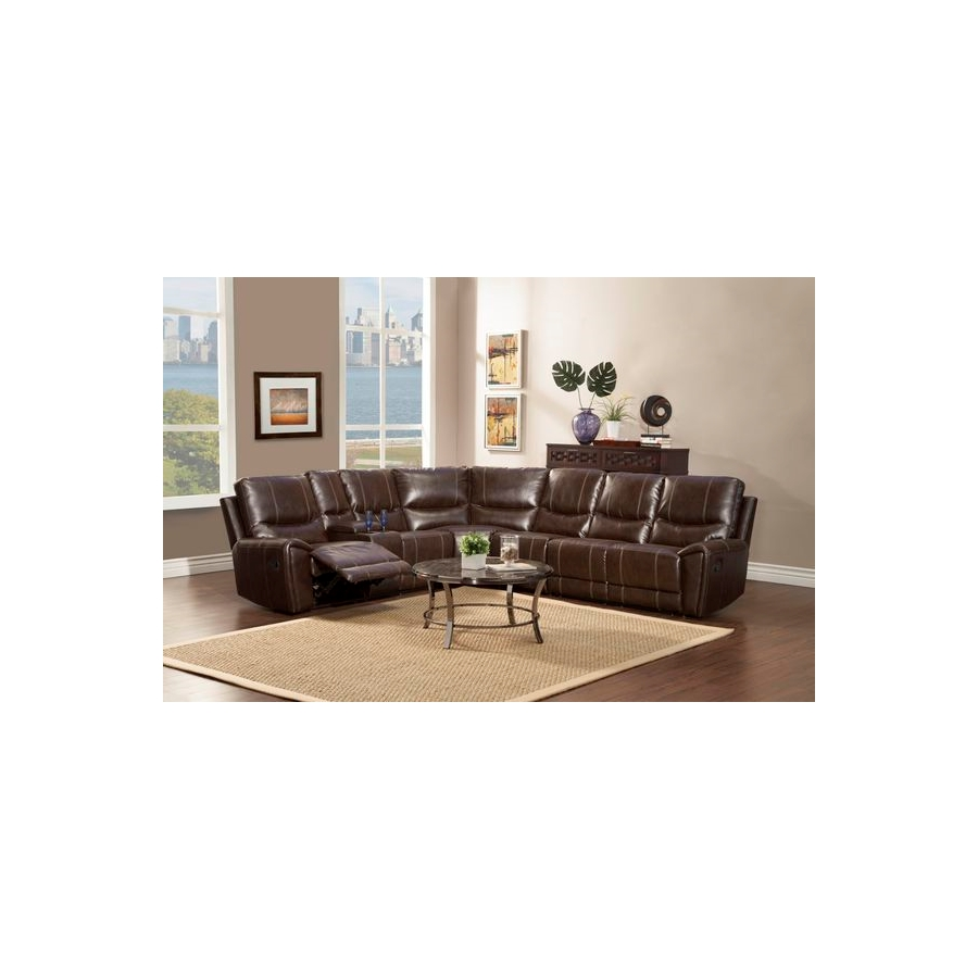 Home Eleglance -Left Side Double Reclining Love Seat with Console
