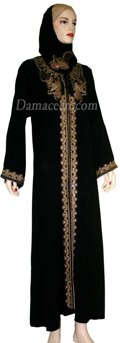 Blooming Fall Abaya With Shawl