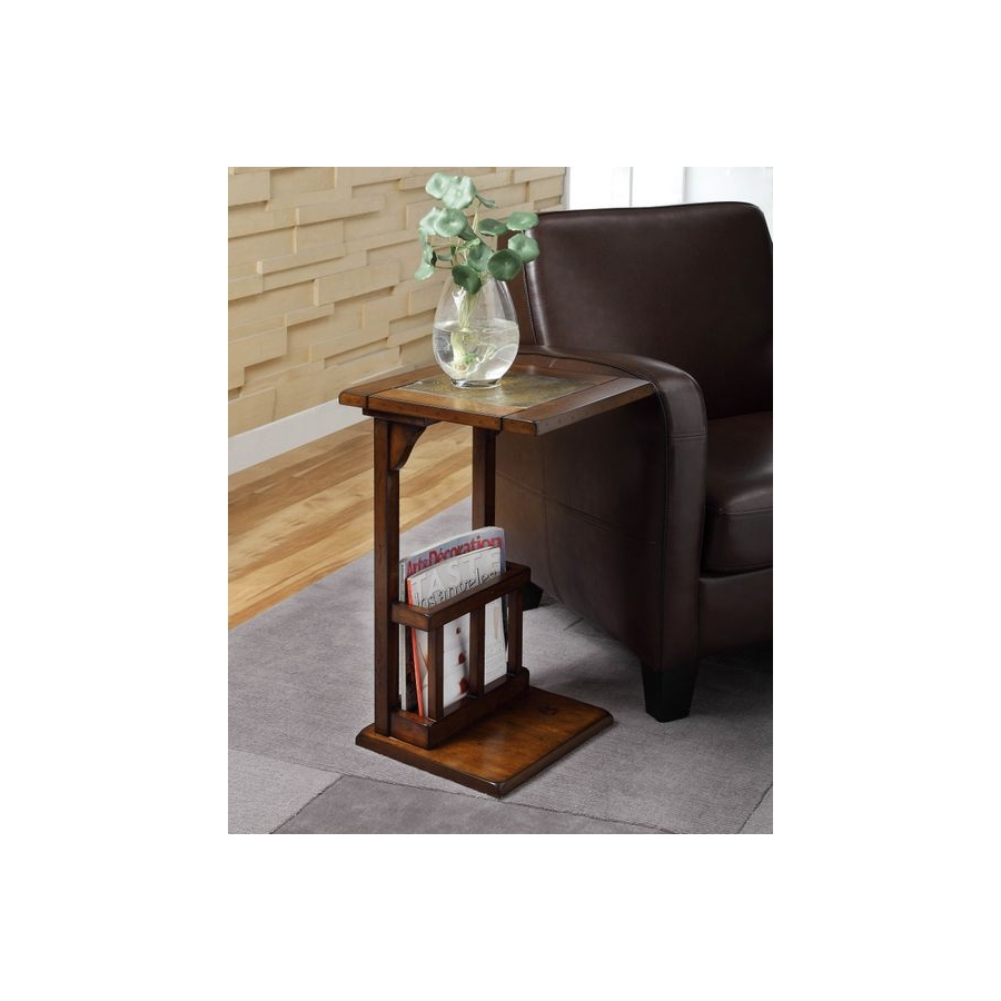 Home Eleglance - Chairside Table, Dark Oak