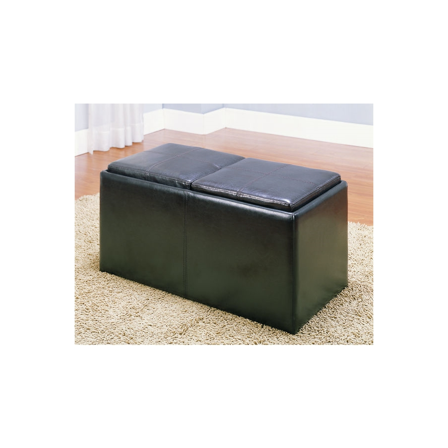 Home Eleglance - Bench with 2 Ottomans/Trays