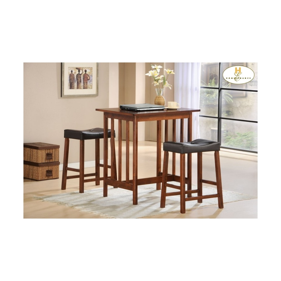 Home Eleglance - 3-Piece Pack Counter Height Set