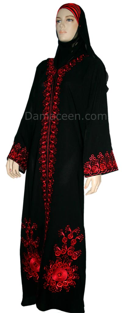 Red Wave Abaya