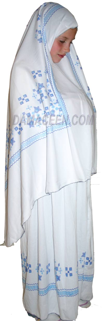Prayer Clothes With Blue Print # 498