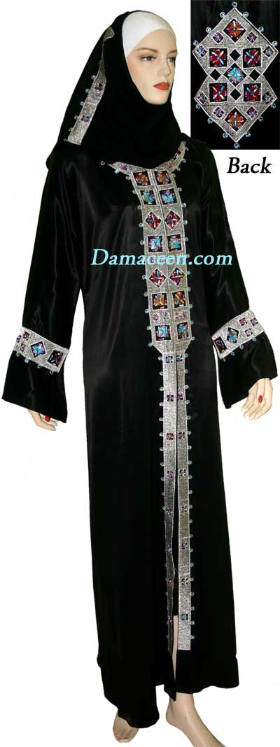Fiesta Shine Abaya with Shawl