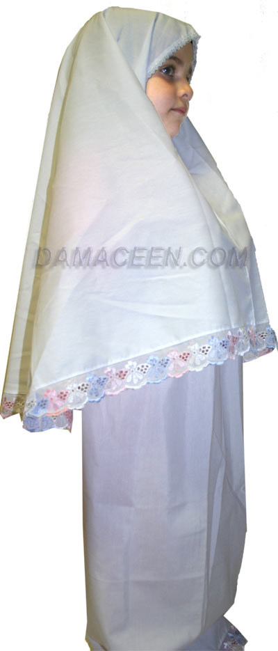 Girls Prayer Clothes With Wide Lace # 399