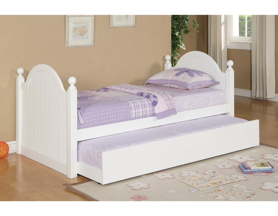 poundex Twin Bed w/ Trundle F9057 (814) by New Furniture 4 Less