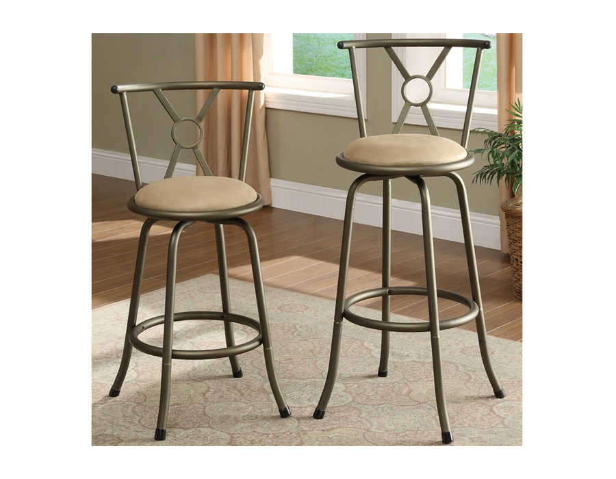 Poundex Swivel Barstool F1432 by New Furniture 4 Less