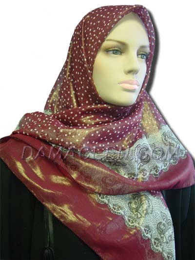Dotted Shiny Print Scarves #376