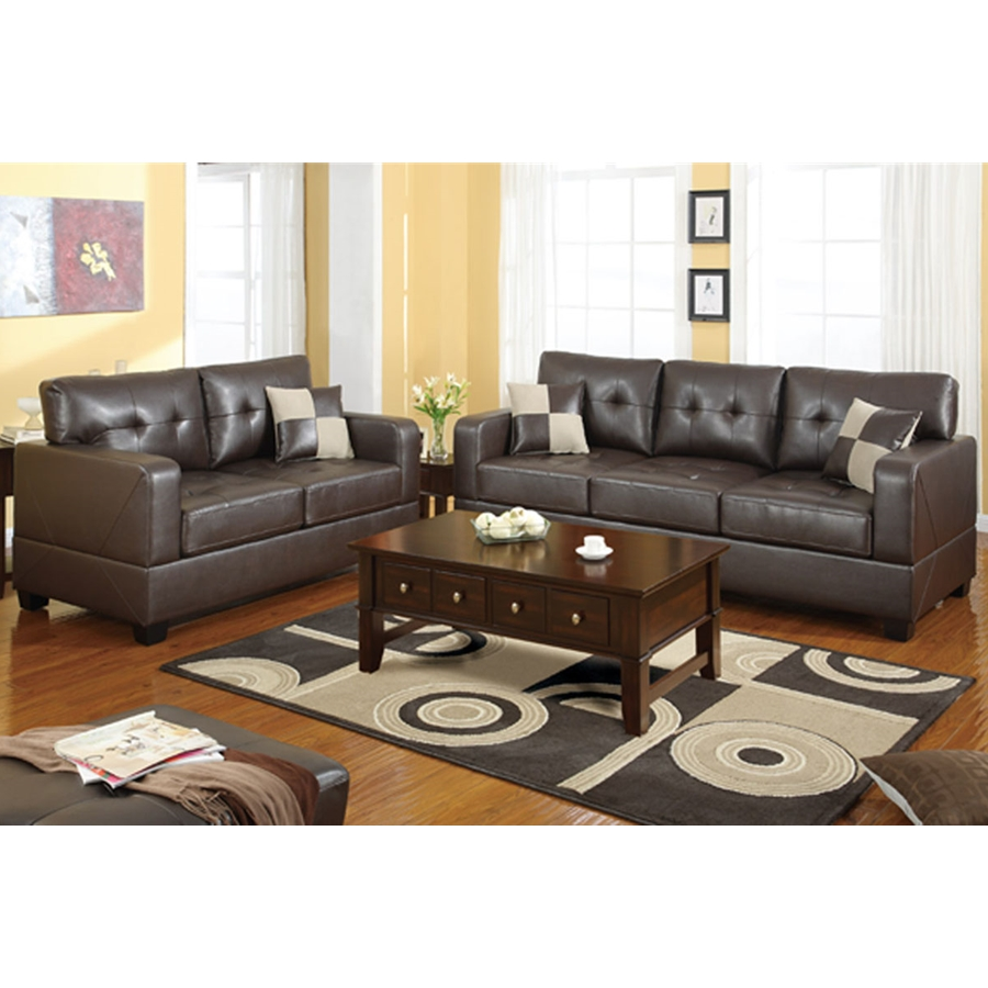 Poundex - F7341 - 2-Pcs Sofa Set