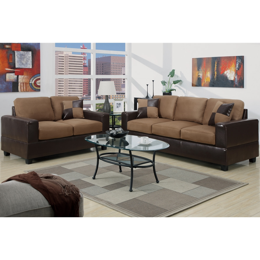 Poundex - F7592 - 2-Pcs Sofa Set