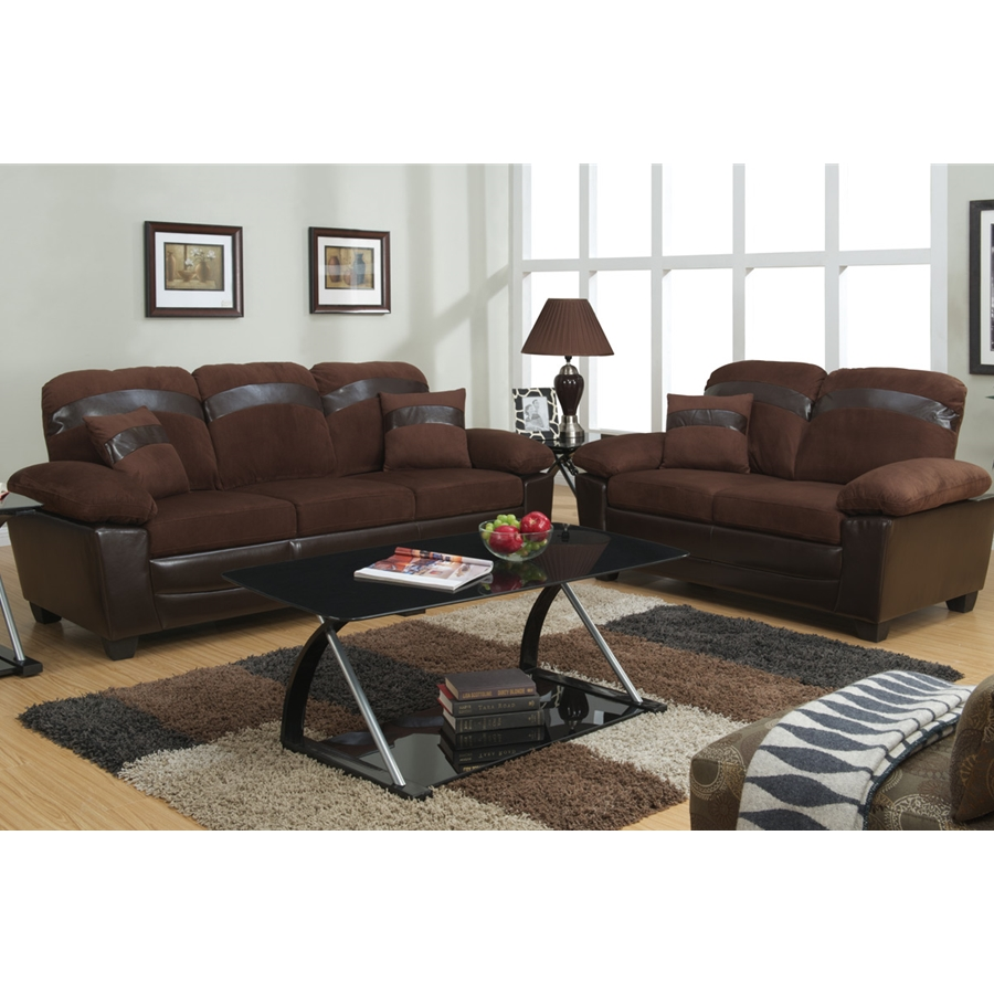 Poundex -F7572- 2-Pcs Sofa Set