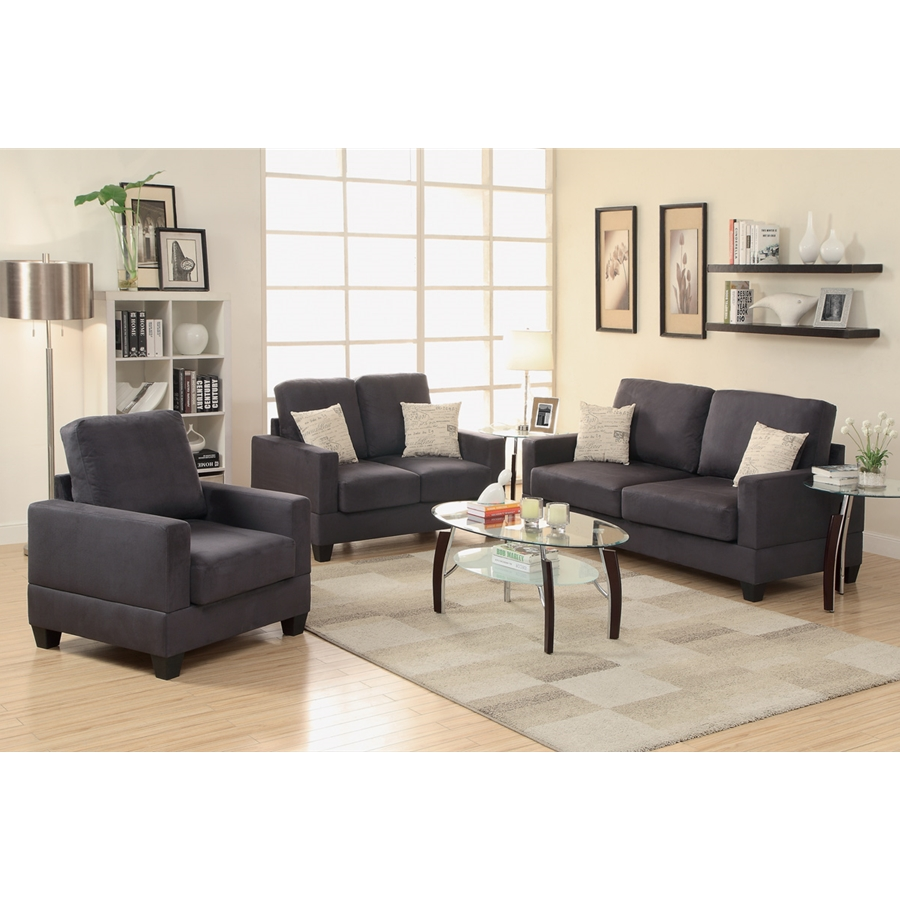 Poundex - F7911- 3-Pcs Sofa Set