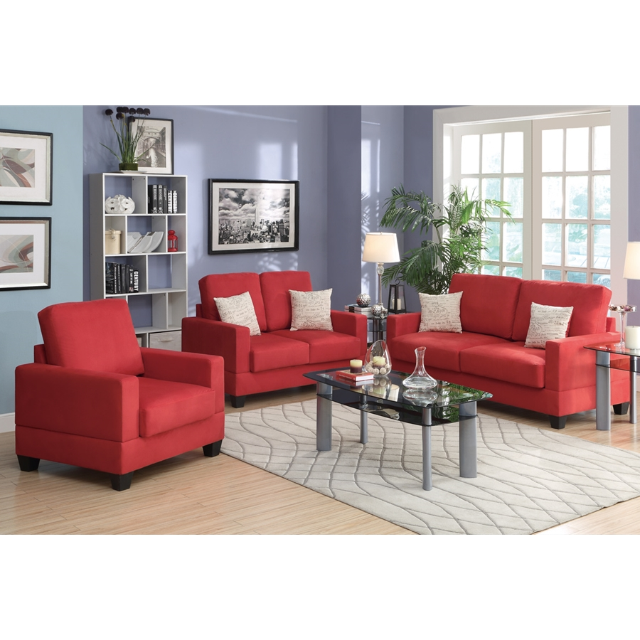 Poundex - F7913 - 3 -  Pcs Sofa Set