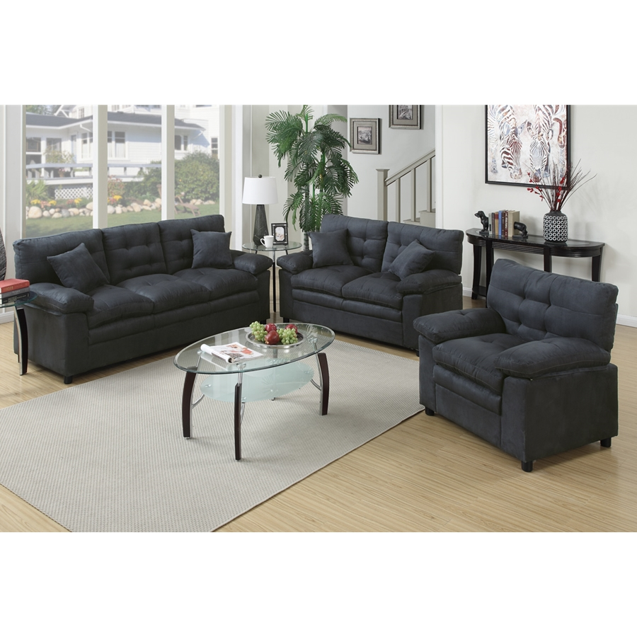 Poundex - F7907 - 3-Pcs Sofa Set