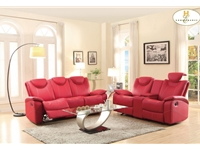 Home Eleglance - Doble Glider Reclining Love Seat with Center Console
