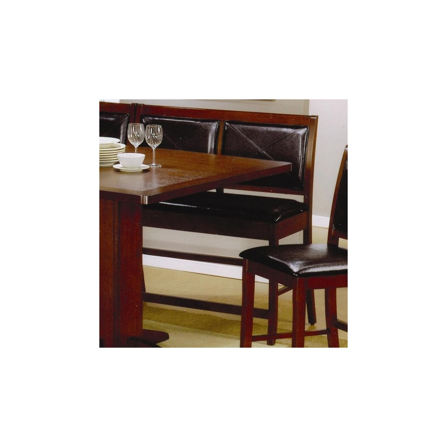 Prime Coaster Nf101793 Coaster Lancaster Counter Height Dining Bench With Faux Leather Back And Seat Andrewgaddart Wooden Chair Designs For Living Room Andrewgaddartcom